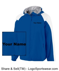 Youth Windbreaker, NAME on chest Design Zoom