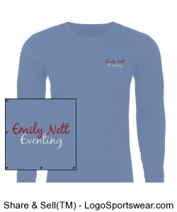 Unisex Long Sleeve Thermal Embroidered NAME on sleeve Design Zoom