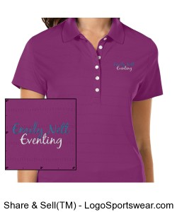 Ladies Embroidered Opti-Vent Polo NAME on sleeve Design Zoom